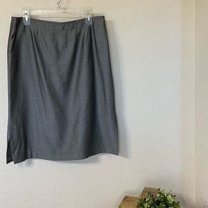 Albert Nipon Grey Pencil Skirt (12)